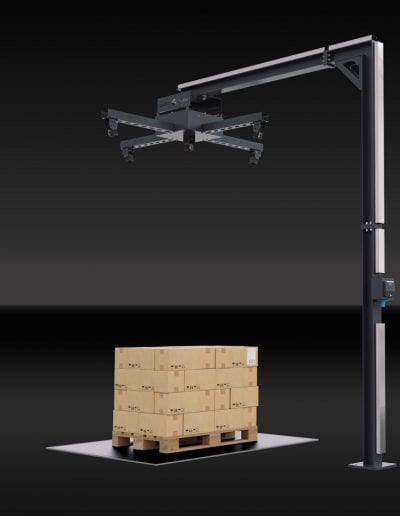 palletcube - pallet dimensioner - stand mount (back)