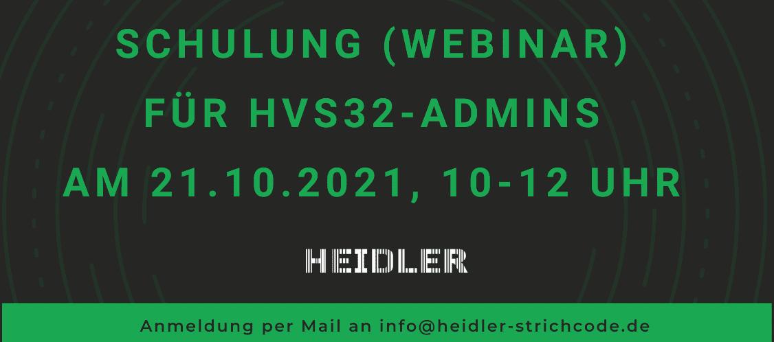 Webinar für HVS32-Administratoren